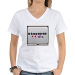 Up up down down Love 2 Player Women's V-Neck T-Shi