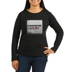 Up up down down Love 2 Player Women's Long Sleeve