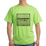 Up up down down Love 2 Player Green T-Shirt