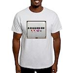 Up up down down Love 2 Player Light T-Shirt