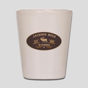 Jackson Hole Belt Buckle Badge Shot Glass