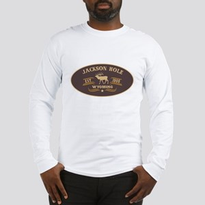 Jackson Hole Belt Buckle Badge Long Sleeve T-Shirt