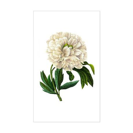 Pierre-Joseph Redoute Botanical Sticker (Rectangle