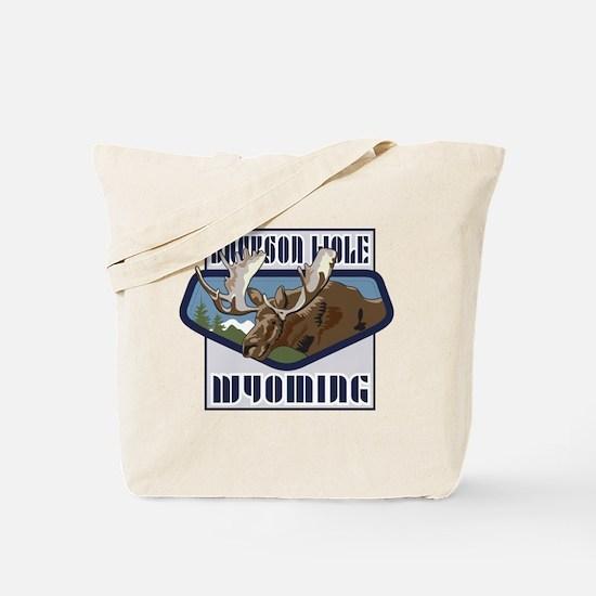 Jackson Hole Mountaintop Moose Tote Bag