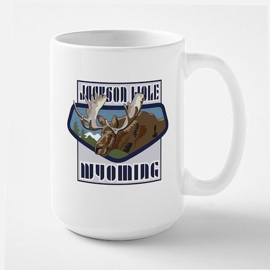 Jackson Hole Mountaintop Moose Large Mug