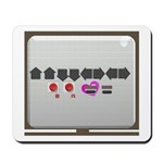 Up up down down Love 2 Player Mousepad