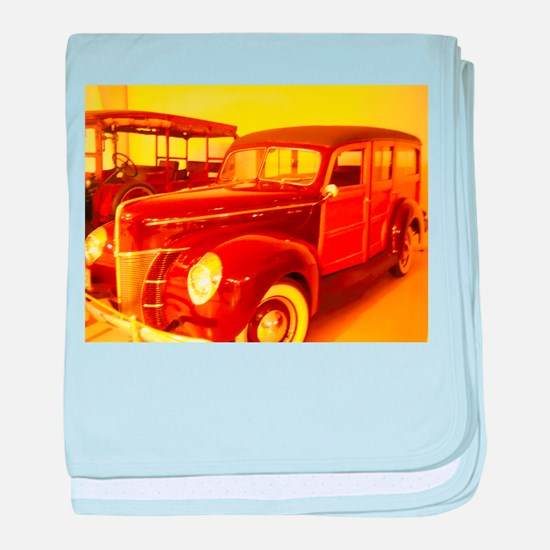 1940 Ford Woody baby blanket