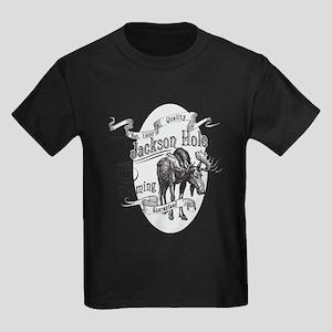 Jackson Hole Vintage Moose Kids Dark T-Shirt