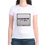 Up up down down Love 2 Player Jr. Ringer T-Shirt