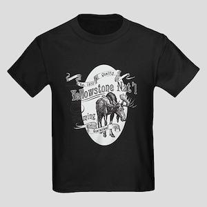 Yellowstone Vintage Moose Kids Dark T-Shirt
