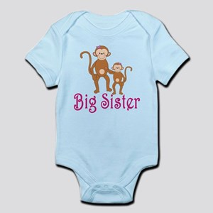 Big Sister Cute Monkeys Infant Bodysuit