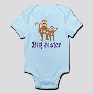 Big Sister Cute Monkeys 2 Infant Bodysuit
