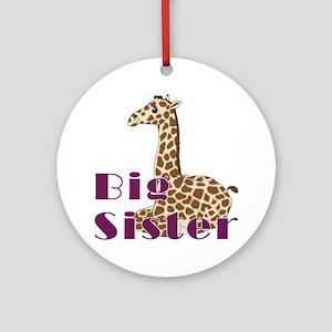 Big Sister Baby Giraffe Ornament (Round)