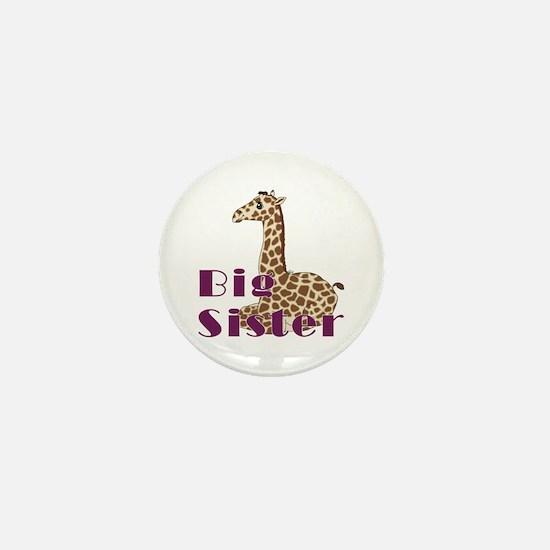 Big Sister Baby Giraffe Mini Button