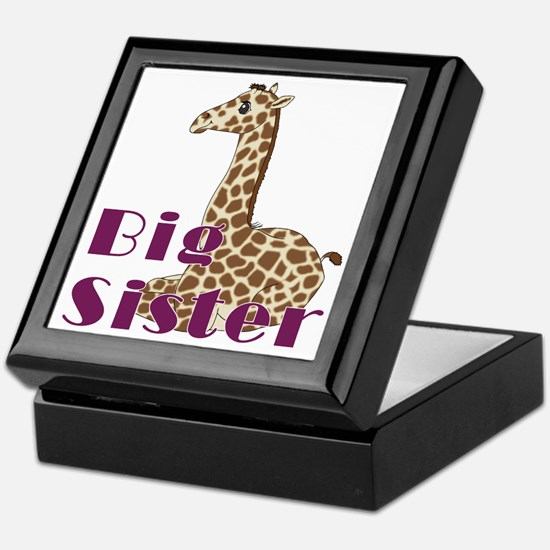 Big Sister Baby Giraffe Keepsake Box