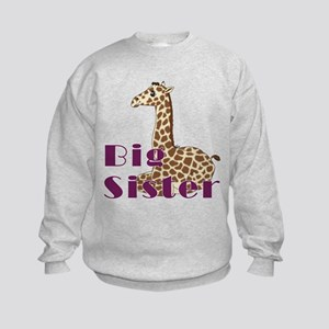 Big Sister Baby Giraffe Kids Sweatshirt
