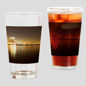 San Diego Skyline Night Drinking Glass