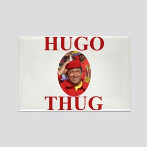 Hugo Chavez Loco Rectangle Magnet