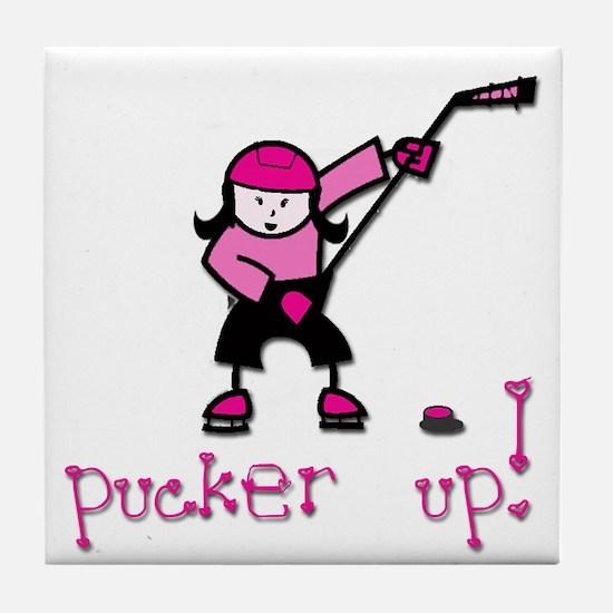 Pucker Up Tile Coaster