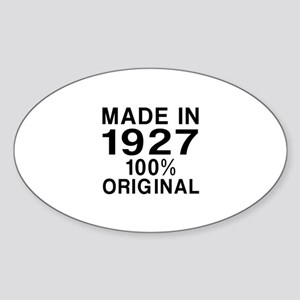 Made In 1927 Sticker (Oval)