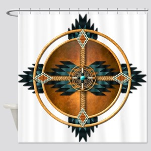 Native American Mandala 05 Shower Curtain