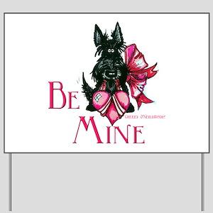 Scottish Terrier Valentine Yard Sign