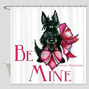 Scottish Terrier Valentine Shower Curtain