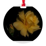 Yellow rose and bud Round Ornament