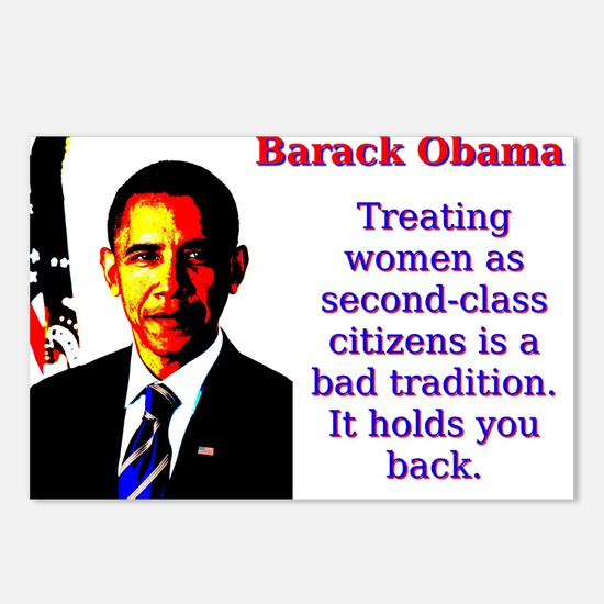 Treating Women As Second Class - Barack Obama Post