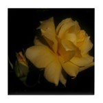 Yellow rose and bud Tile Coaster