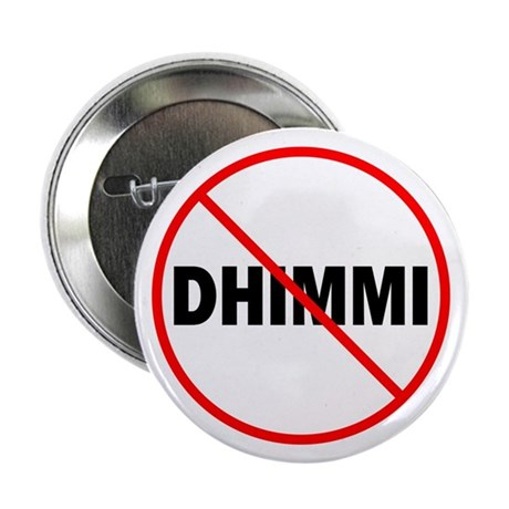"No Dhimmi 2.25"" Button (10 pack)"