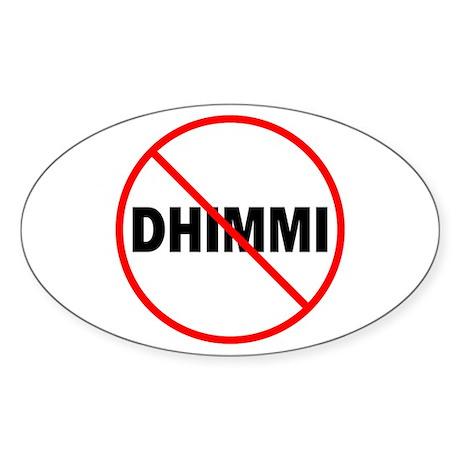 No Dhimmi Oval Sticker