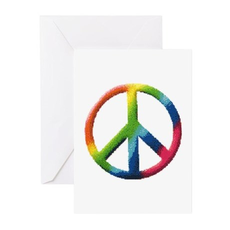 Rainbow Peace Sign Greeting Cards (Pk of 10)