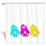 CMY Penguins Shower Curtain