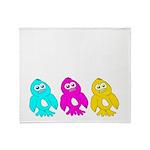CMY Penguins Throw Blanket