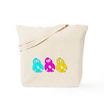 CMY Penguins Tote Bag