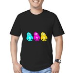 CMY Penguins Men's Fitted T-Shirt (dark)