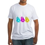 CMY Penguins Fitted T-Shirt