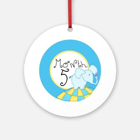 Dr Seuss Inspired 5 Months Unisex Baby Milestone O