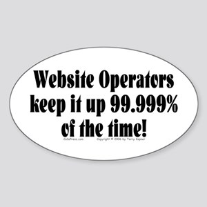 Website Ops... Oval Sticker