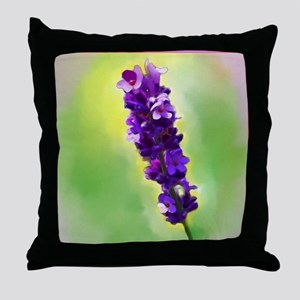 Lavendar Flower Throw Pillow