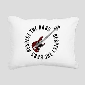 Respect the bass Rectangular Canvas Pillow