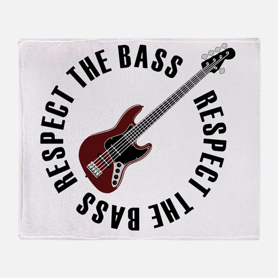 Respect the bass Throw Blanket