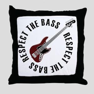 Respect the bass Throw Pillow