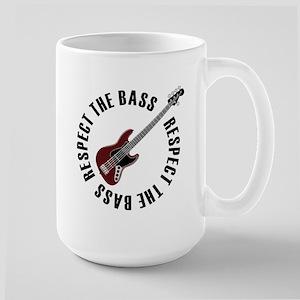 Respect the bass Large Mug