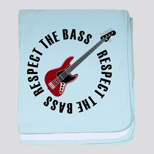 Respect the bass baby blanket