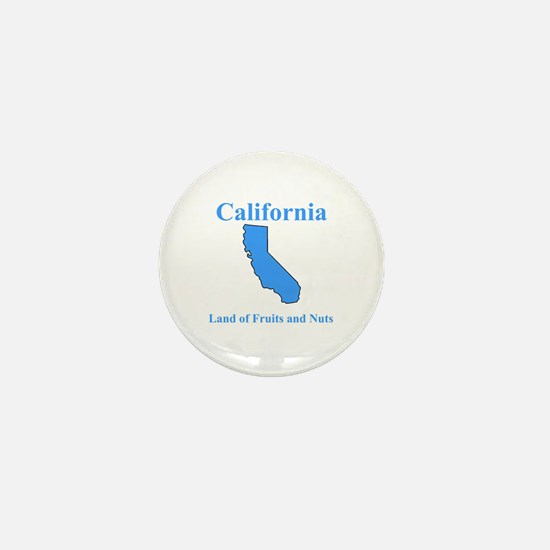 California Land of Fruits and Nuts Mini Button