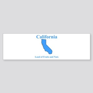 California Land of Fruits and Nuts Sticker (Bumper