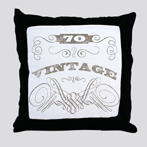 Vintage 70th Birthday Throw Pillow
