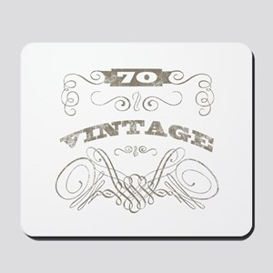 Vintage 70th Birthday Mousepad